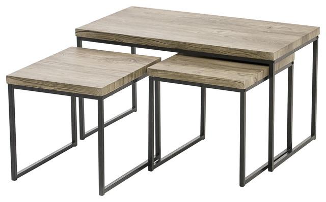 Coffee Table 3 Piece Sets.Kubik Nesting Coffee Tables 3 Piece Set