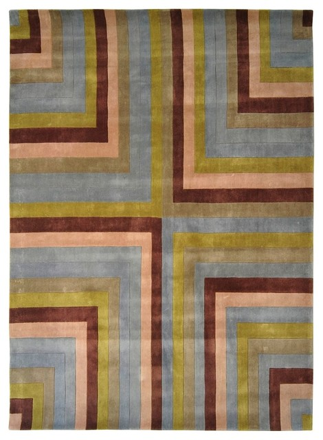 Contemporary rio area rug contemporary hall and stair for Contemporary runner rugs for hallway