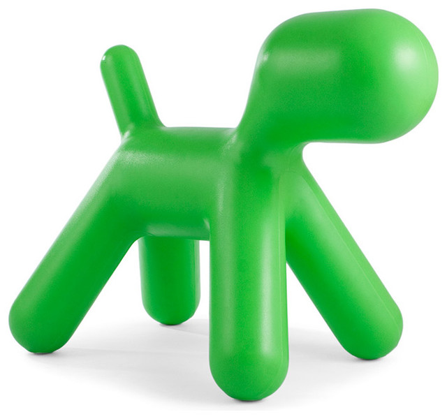Kids Modern Large Puppy Toy Chair, Green