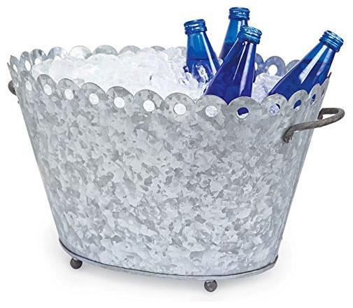 Fleur De Lis Metal Beverage Tub.