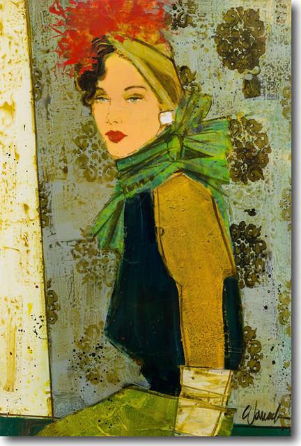 """damas Iii"" Artwork By Kathy Womack, 24""x36""."