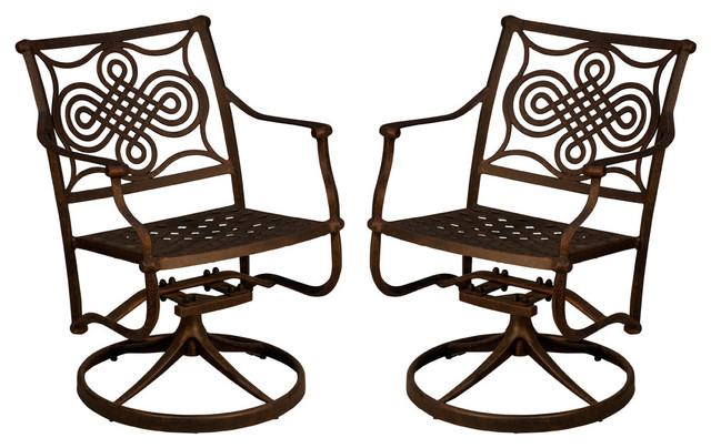 Admirable Oasis Swivel Rocker Set Of 2 Without Cushion Squirreltailoven Fun Painted Chair Ideas Images Squirreltailovenorg