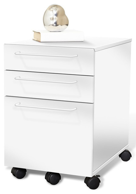 ... File Cabinet in White or Espresso (Ships Assembled!) - Filing Cabinets