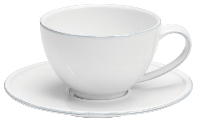 880a00e3e3 Costa Nova Friso Teacups and Saucers, 6-Piece Set - Contemporary - Tea Cups  - by Costa Nova