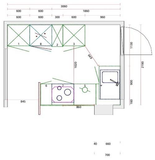 Projet petite cuisine ouverte sur salon for Plan petite cuisine ouverte