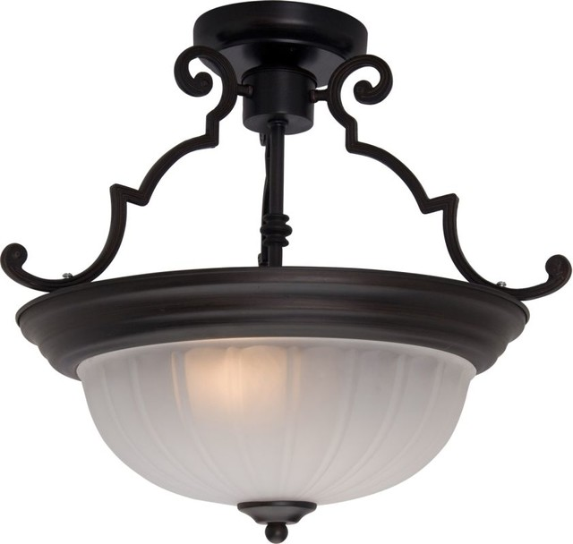 Maxim 5833 Essentials 2-Light Semi-Flush Ceiling Fixture.