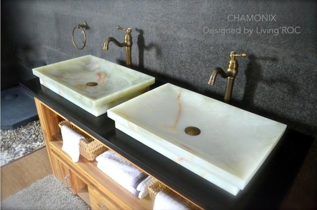 chamonix white onyx bathroom vessel sink craftsman bathroom miami by living 39 roc usa. Black Bedroom Furniture Sets. Home Design Ideas