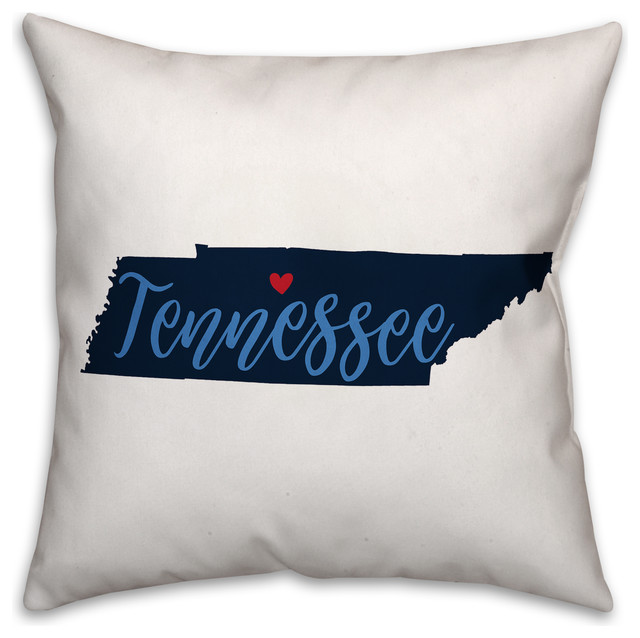 Navy And Blue Tennessee Pride 16x16 Spun Poly Pillow Contemporary Decorative Pillows By Designs Direct