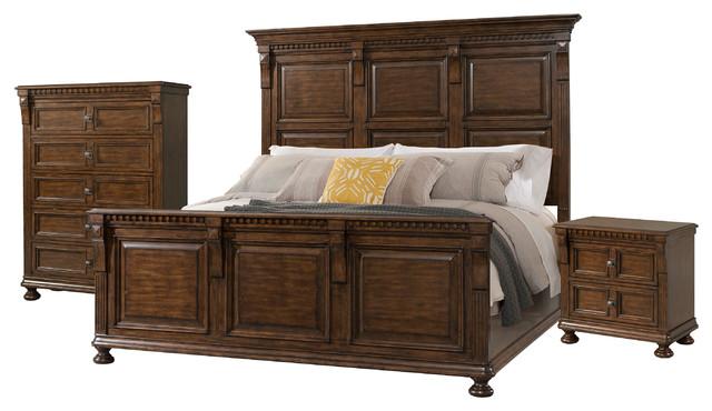 Superbe Picket House Furnishings Henry King Panel 3 Piece Bedroom Set