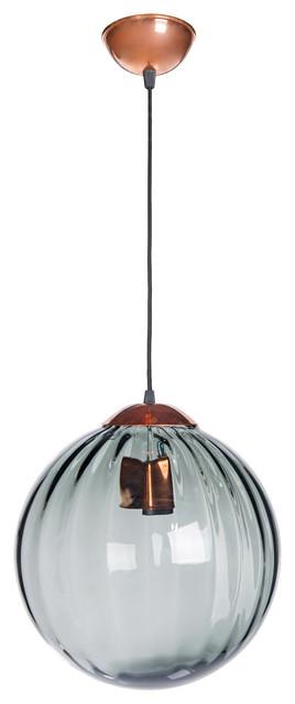 Arran Copper Pendant Light, Grey