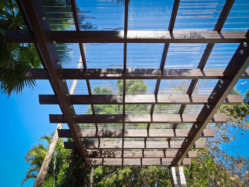 - What Is The Material Covering This Pergola? It Is Beautiful.