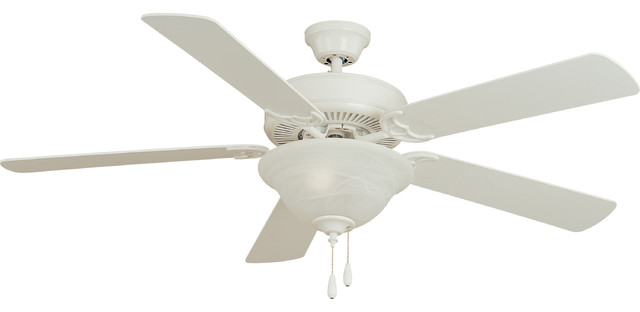 "Basic-Max 52"" Ceiling Fan White/light Oak Blades"