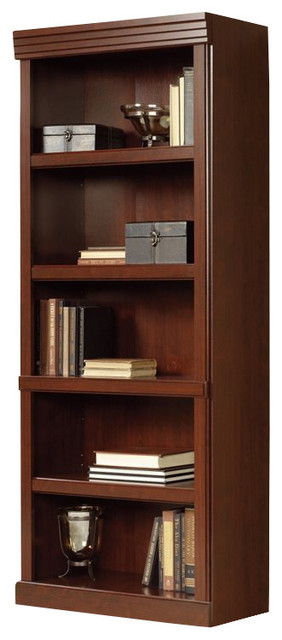 Sauder Heritage Hill 5 Shelves Bookcase in Classic Cherry