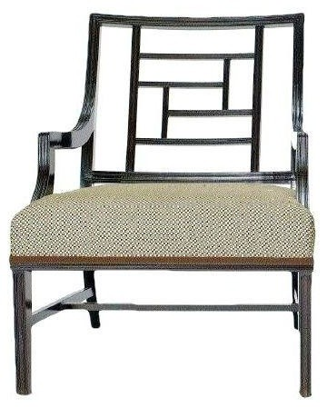 lattice back accent chair contemporary living room