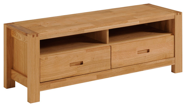 Ethan French Oak TV Stand With 2 Drawers and Shelves - Entertainment Centers And Tv Stands - by ...
