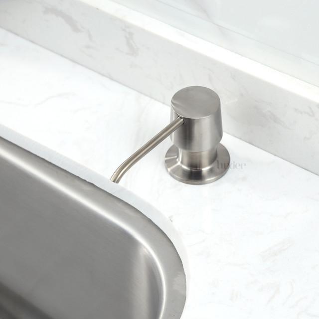Kitchen Soap/Lotion Pump Dispenser, Brushed Nickel