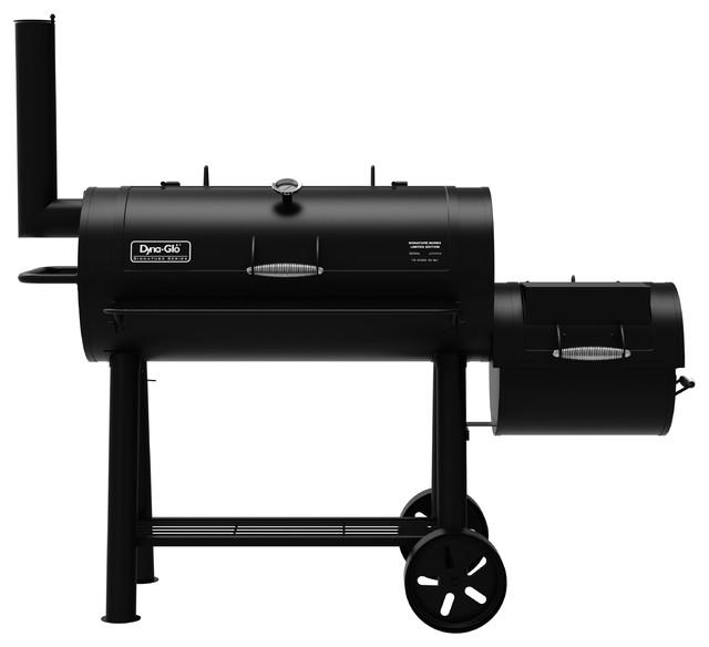 Dyna-Glo Signature Series Barrel Charcoal Grill & Side Firebox.