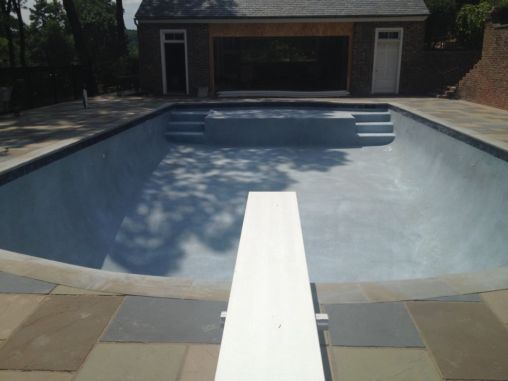 RENOVATION POOL Pebble Sheen Day 1 Application for Pool renovation
