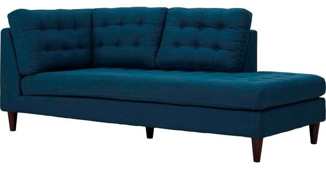 Modern Contemporary Urban Design Bedroom Living Room Bumper Bench, Navy, Fabric.