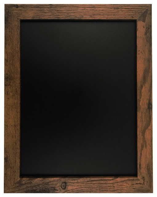 "Rustic Wood Premium Surface Magnetic Chalk Board, 11""x14""."