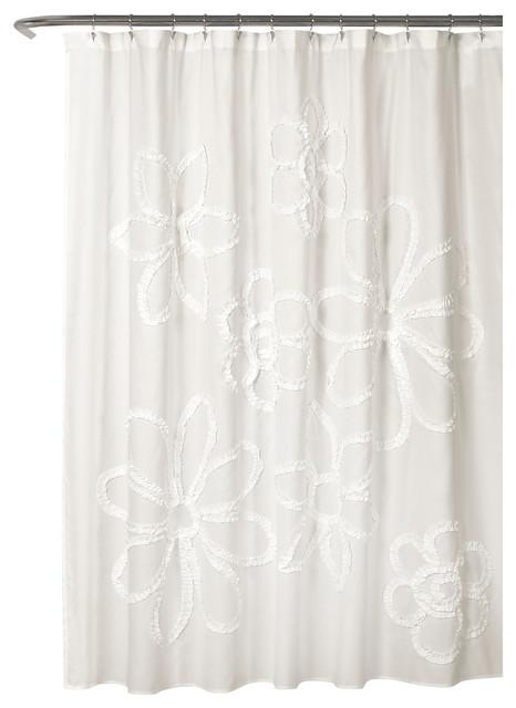 Ruffle Flower Single Shower Curtain
