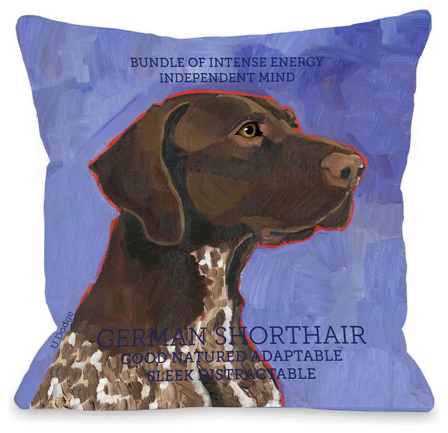 Quot German Shorthaired Quot Indoor Throw Pillow By Ursula Dodge
