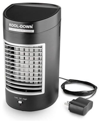 Ideaworks Kool Down Portable Evaporative Cooler, With Ac Power Adapter.