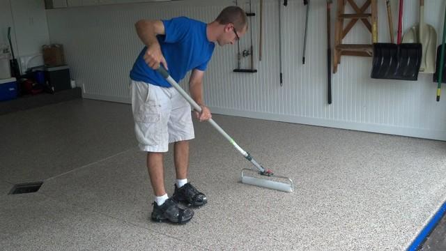 Garage floor coating in zeeland mi rangement de garage et outil de bricola - Barre de rangement garage ...
