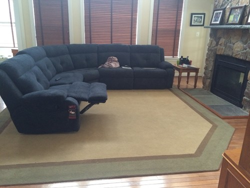 What Size Area Rug For Sectional Sofa Uniquely Modern Rugs