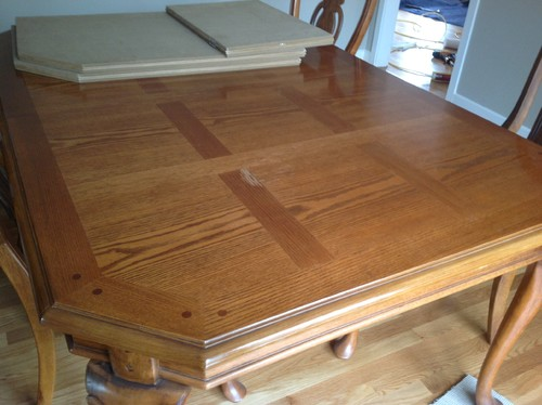 folding dining table hutch with matching should paint outdated parquet top part corner