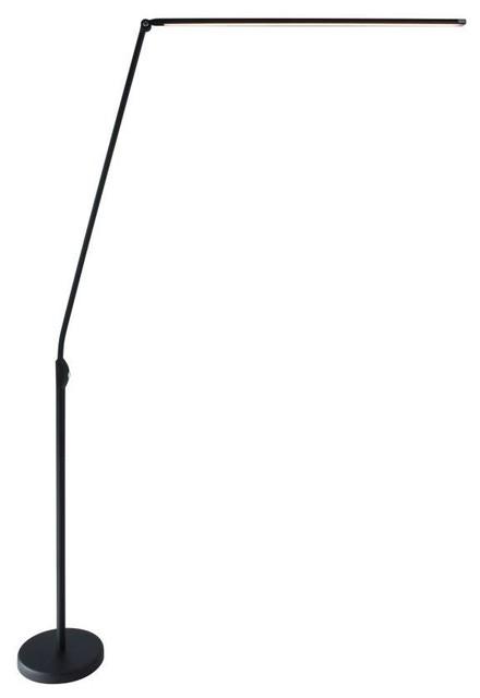 "Lite Source LS-83320 Pontus 83"" Tall Integrated LED Arc Floor Lamp"