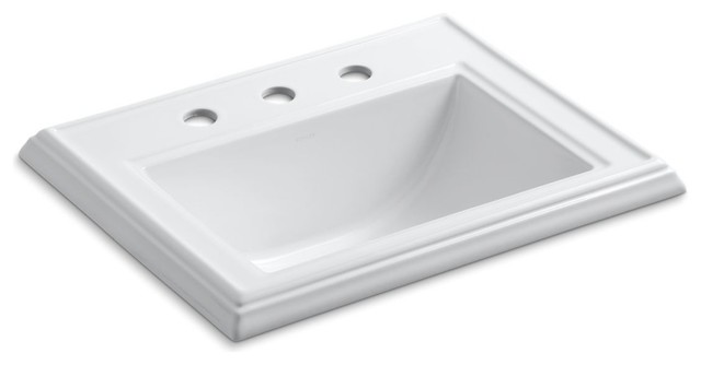 Kohler Memoirs Self-Rimming Lavatory With 8 Centers, White.