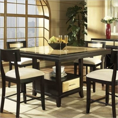 Somerton Dwelling Insignia Maple Merlot Counter Height Table Modern Dining Tables By Hayneedle