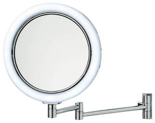 Smile Illuminated Magnifying Mirror - Contemporary - Makeup Mirrors - by Modo Bath