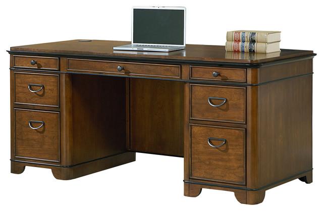 Kensington Double Pedestal Executive Desk - Traditional - Desks And Hutches - by Martin Main
