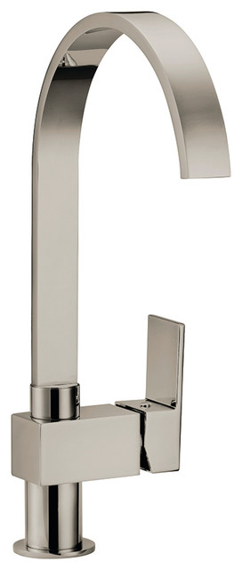 Karsen Single Handle Kitchen Faucet, Satin Nickel Contemporary Kitchen  Faucets