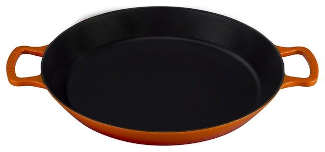 Le Creuset Of America Enameled Cast Iron Paella Pan, 3 1/4-Quart.