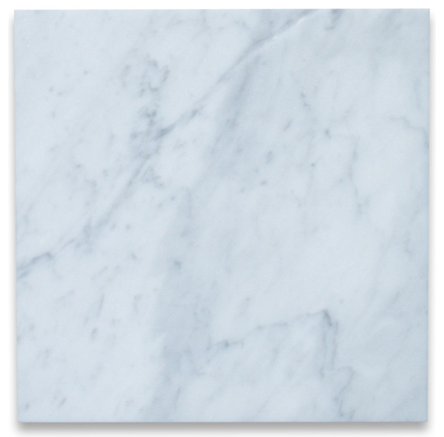 12 X12 Carrara White Marble Tile Polished Italian Bianco Carrera Set Of 200