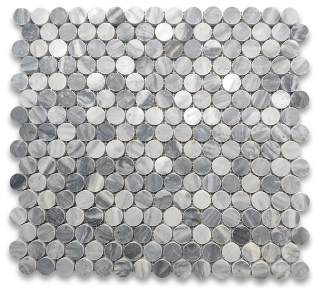 Penny Round Mosaic Tile Honed