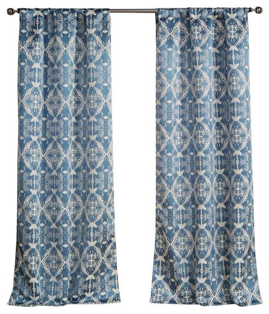 Vivyan Kensie Pole Top Pair Panel, Set Of 2, Blue.