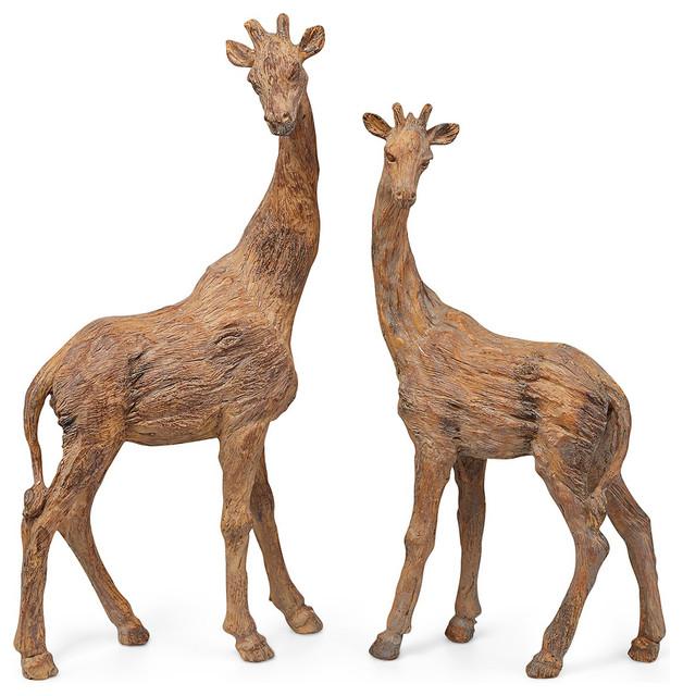 Jones Giraffes Statue Pair Home Decor