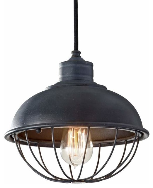 Murray Feiss P1242af Urban Renewal 1 Light Mini Pendant With Metal Shade And Cag