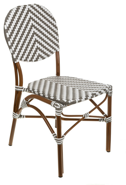 Cafe Bistro Chair, Gray/white.