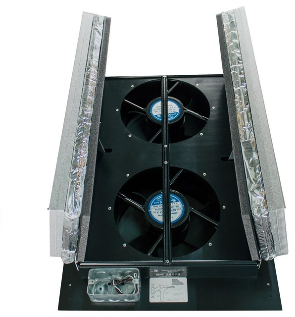 Hv1000 R50 Whole House Fan With Vip Doors.