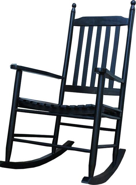 Durable Wooden Black Patio Porch Rocker Rocking Chair Contemporary Rocki