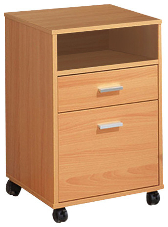 Shop Houzz | Smart Home Furniture Wooden Beech Home Office Storage File Cabinet - Filing Cabinets
