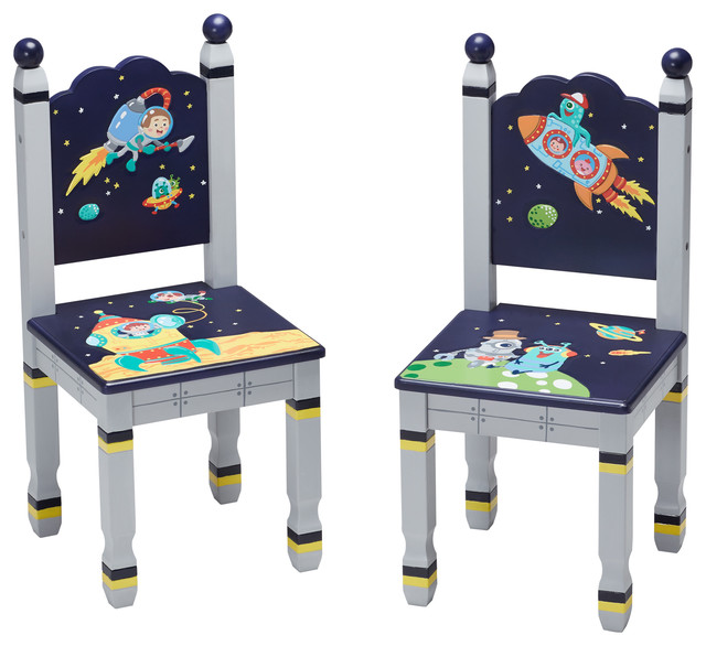 Outer Space Kids Chairs Set Of 2 Modern Living Room