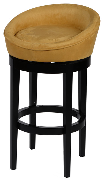 Armen Living Igloo Microfiber Swivel Barstool View In