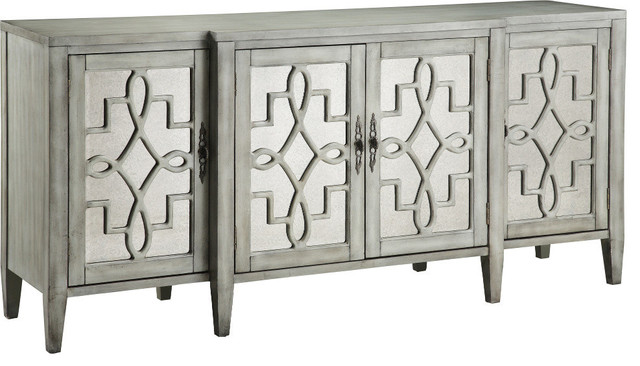 Lawrence 4-Door Credenza, Soft Sage.