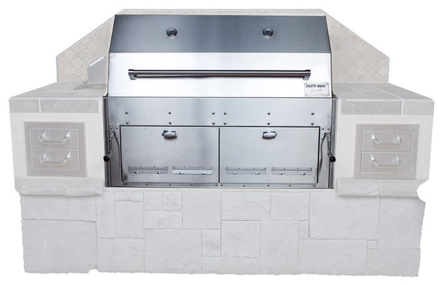 Hasty-Bake Hastings 290 Stainless Steel Built In Charcoal Grill.